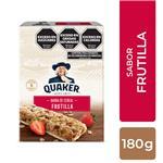 Barra Cereal Frutilla Y Cre Quaker Est 150 Grm