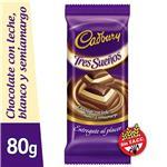 Chocolate Tres Sueños CADBURY Paq 80 Grm