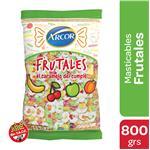 Caramelos ARCOR Masticables Frutales Bol 800 Gr