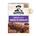 Barra De Cereal QUAKER Mousse De Chocolate 6 Uni Est 126 Grm