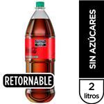 Gaseosa COCA COLA Sin Azúcar   Botella 2 L Botella Retornable