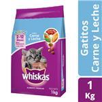Alimento Para Gato WHISKAS Carne Y Leche Bol 1 Kg