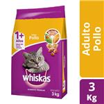 Alimento Para Gato WHISKAS Pollo Y Leche Bol 3 Kg