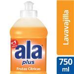 Lavavajilla ALA Plus Frutas Citricas Bot 750 Ml