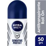 Desodorante Antitraspirante NIVEA MEN Sensitive Protect Roll-On 50 CC