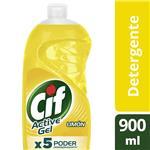 Detergente CIF ACTIVE GEL Limón Botella 900 Ml