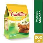 Tostadas CRIOLLITAS Salvado Paq 200 Grm