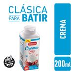 Crema De Leche LA SERENISIMA Clásica Para Batir 200 CC