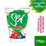Yogur Descremado SER Frutillas, Arándanos Y Granada Colchón Frutas 175 Gr