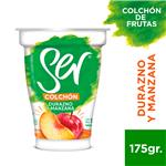 Yogur Descremado SER C/Colchon Durazno Y Manzana Pot 180 Grm
