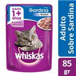 Alimento Para Gato WHISKAS Sardina Pou 85 Grm