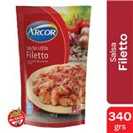 Salsa Filetto Arcor Lista Pouch 340 Gr