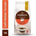 Café Torrado Molido LA MORENITA  Intenso Paquete 1 Kg