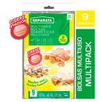 Bolsa Hermetica SEPARATA Multipack C/Cierre Paq 9 Uni