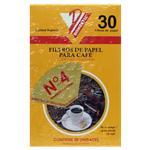 Filtro De Papel P/Cafe Nº4 X 30 Unid . . .