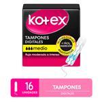 Tampones Kotex Medio X16