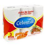 Rollo De Cocina CELESTIAL 120 Paños Paquete 3 Unidades