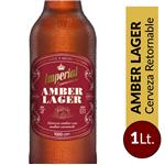Cerveza Amber Lager Imperial  Botella 1 L