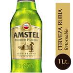 Cerveza Pilsener AMSTEL Botella 1 L