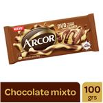 Chocolate ARCOR Leche Y Blanco Paq 100 Grm