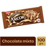 Chocolate ARCOR Leche Y Blanco Paq 100 Grm