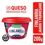 Queso Untable Light FINLANDIA Jamon/Parmesa Vit A/D Pot 200g