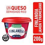 Queso Untable Light FINLANDIA Jamon/Parmesa Vit A/D Pot 200g