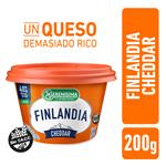 Queso Untable Light FINLANDIA Cheddar Vit A/D Pot 200 Grm