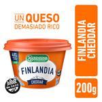 Queso Untable Light FINLANDIA Cheddar Vit A/D Pot 200 Grm