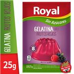 Gelatina ROYAL Frutos Rojos Light   Sobre 25 Gr