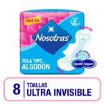 Toalla Femenina Nosotras Ultrainvisibl T/Algodon Paq 8u