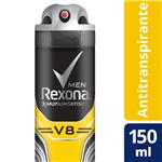 Desodorante Antitraspirante REXONA MEN  V8  Aerosol 90 Cc
