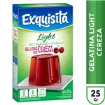 Gelatina EXQUISITA Cereza Light Sobre 25 Gr