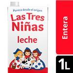 Leche Entera TRES NIÑAS L.Vida Tradicion C. Cnt 1 Ltr