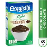Postre Exquisita Chocolate Light  Caja 65 Gr