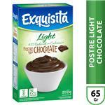 Postre Exquisita Chocolate Light  Caja 65 Gr