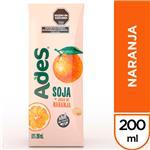 Jugo De Soja  ADES Naranja    Tetrabrik 200 Cc