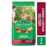 Alimento Para Perro DOG CHOW Adultos Raza Mediana Y Grande Adultos Bsa 3 Kg
