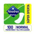 Protectores Diarios Nosotras Normal Paq 100 Uni