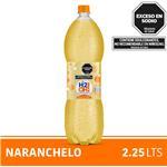 Agua Saborizada Con Gas H2oh! Naranchelo Botella 2.25 L
