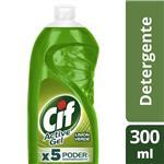Lavavajilla CIF Active Gel Limon Verde Form.Sup. Bot 300m