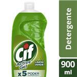Detergente CIF ACTIVE GEL Limón Verde Botella 900 Ml