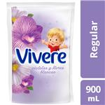 Enjuague Para Ropa VIVERE Violetas Y Flores Blancas Doypack 900 Ml