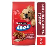 Alimento Adultos PURINA DOGUI 3 Kg Carne, Cereales Y Arroz