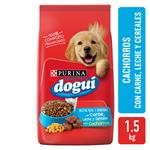 Alimento Cachorros PURINA DOGUI 1.5 Kg Carne, Cereales Y Leche