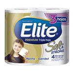 Papel Higiénico ELITE Premium Triple Hoja Paquete 4 Unidades
