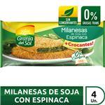 Milanesa Soja C/Espinaca Granja Del  Paq 330 Grm