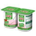 Yogur Descremado Firme COTO Frutilla Pak 2 Uni 125 Grm