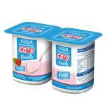 Yogur Entero COTO Firme Frutilla Pak 2 U 125 Grm