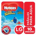 "Pañales  HUGGIES Little Swimmers   ""G"" 10 Unidades"